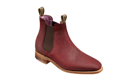 Gina - Plum Waxy Suede Women Chelsea boot