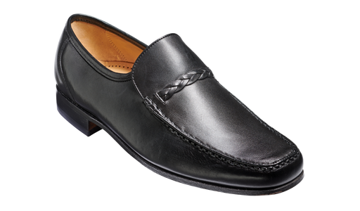 Grayson - Black Calf Loafer Shoe