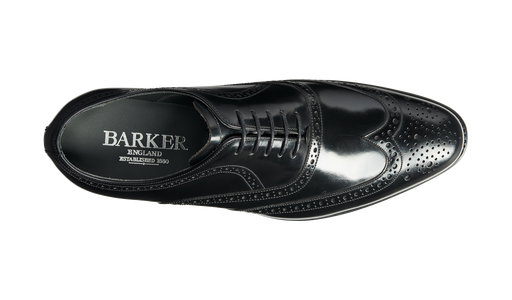 Hampstead - Black Hi-Shine Oxford Brogue Shoe
