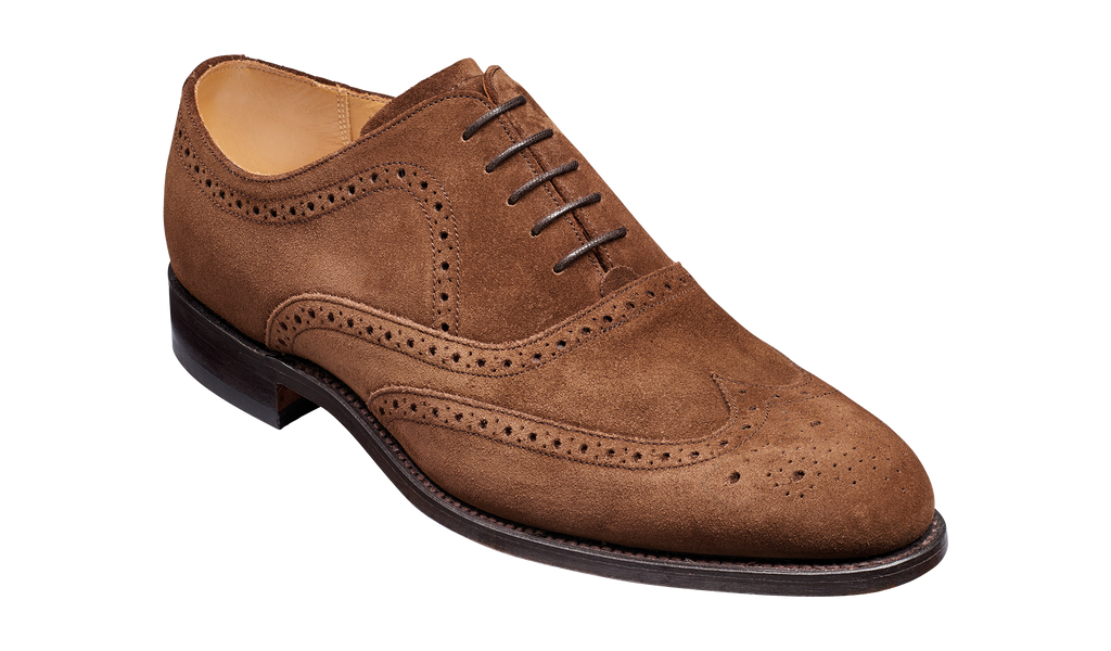 Hampstead - Castagnia Suede Oxford Brogue Shoe