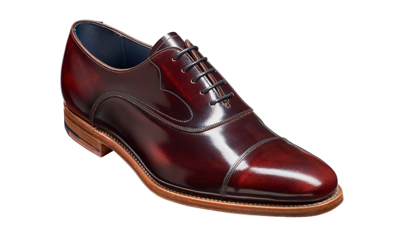 Hartley - Brandy Hi-Shine Oxford toe-cap Shoe