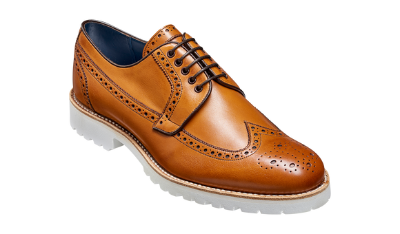 Hawk - Cedar Calf Long-Wing Derby Brogue Shoe