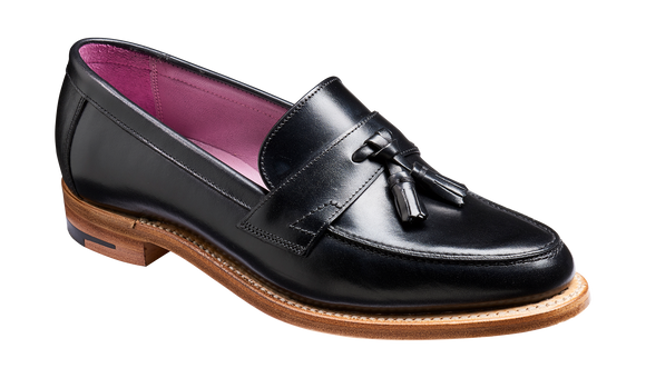 Imogen - Black Calf - Tassel Loafer Shoe
