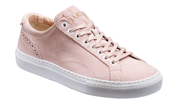 Isla - Pink Suede Womens Rubber Sole Sneaker Shoe
