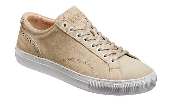 Isla - Beige Suede Hand Stitched Rubber Sole Sneaker