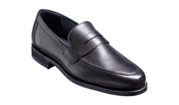 Jevington - Black Grain Loafer Shoe