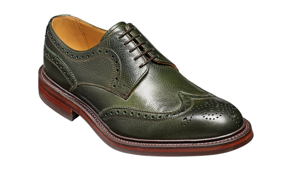 Kelmarsh - Olive Green Grain Wingtip Brogue