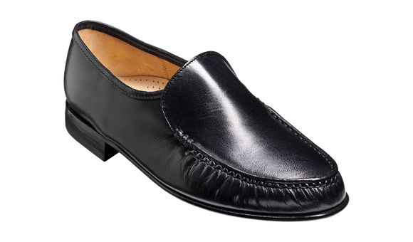 Laurence - Black Kid Loafer