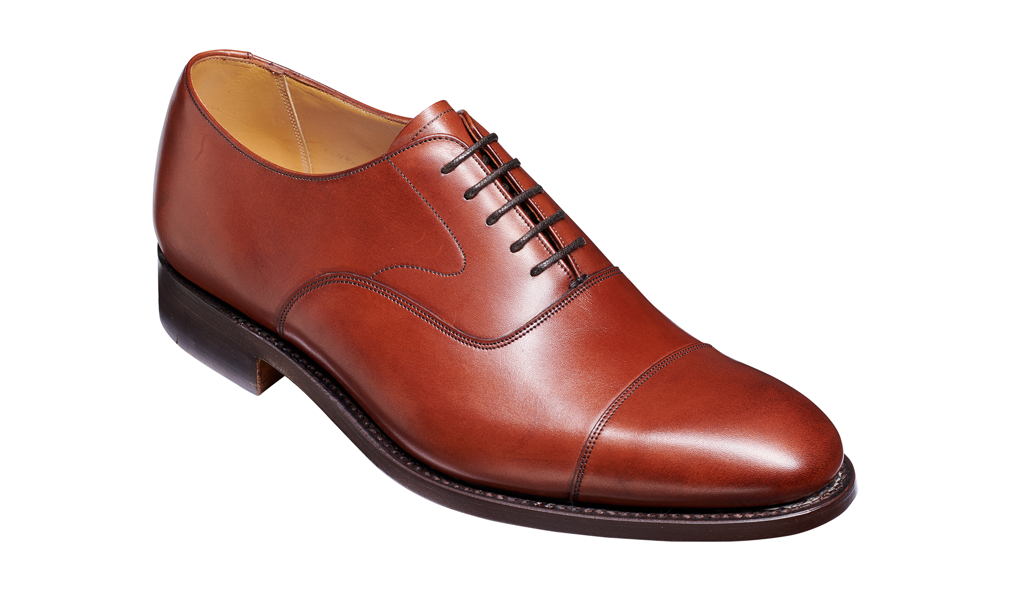 Men's brown work shoes by Barker