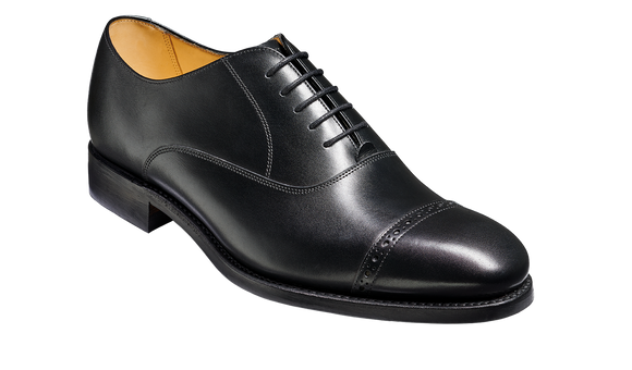 Midhurst - Black Calf Toe Cap Oxford