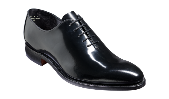 Nelson - Black Hi Shine Oxford Shoe