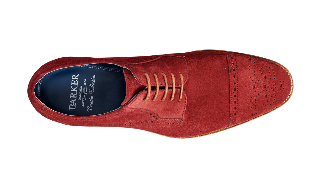 Nixon - Burgundy Suede Brogue