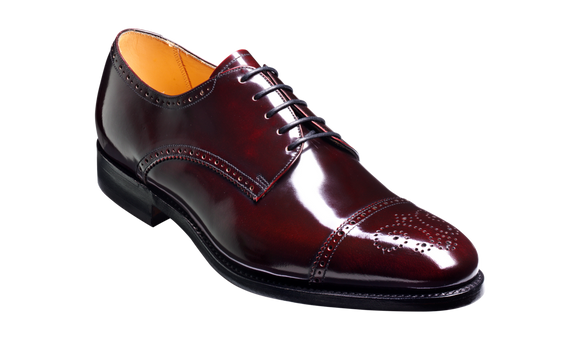 Perth - Burgundy Hi-Shine Derby Shoe