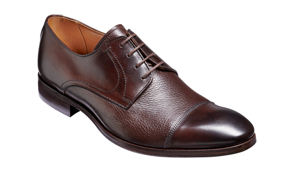 Southwold - Dark Brown Calf / Deerskin Derby