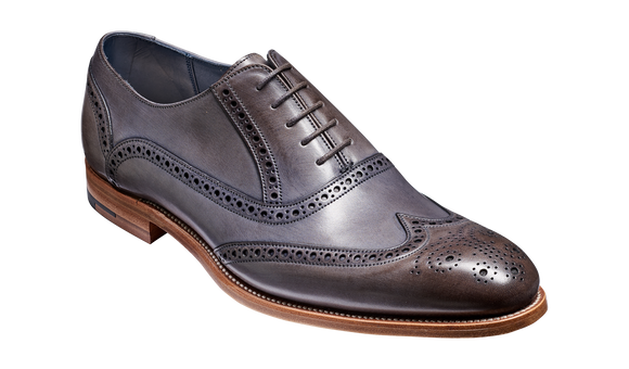 Valiant - Grey Hand Painted Brogue