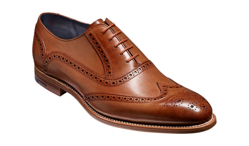 Valiant - Brown Hand Painted Brogue