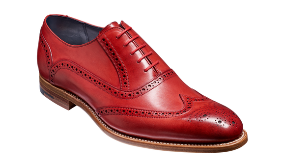 Valiant - Red Hand Painted Brogue