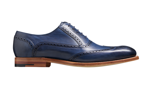 Valiant - Navy Hand Painted Brogue