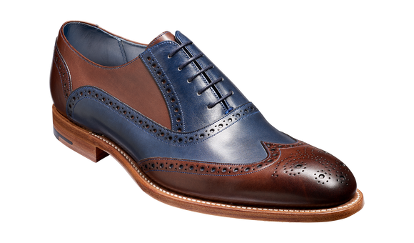 Valiant Multi - Ebony / Navy Hand Painted Oxford Brogue