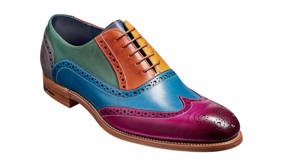 Valiant Multi - Multi Coloured Oxford Brogue