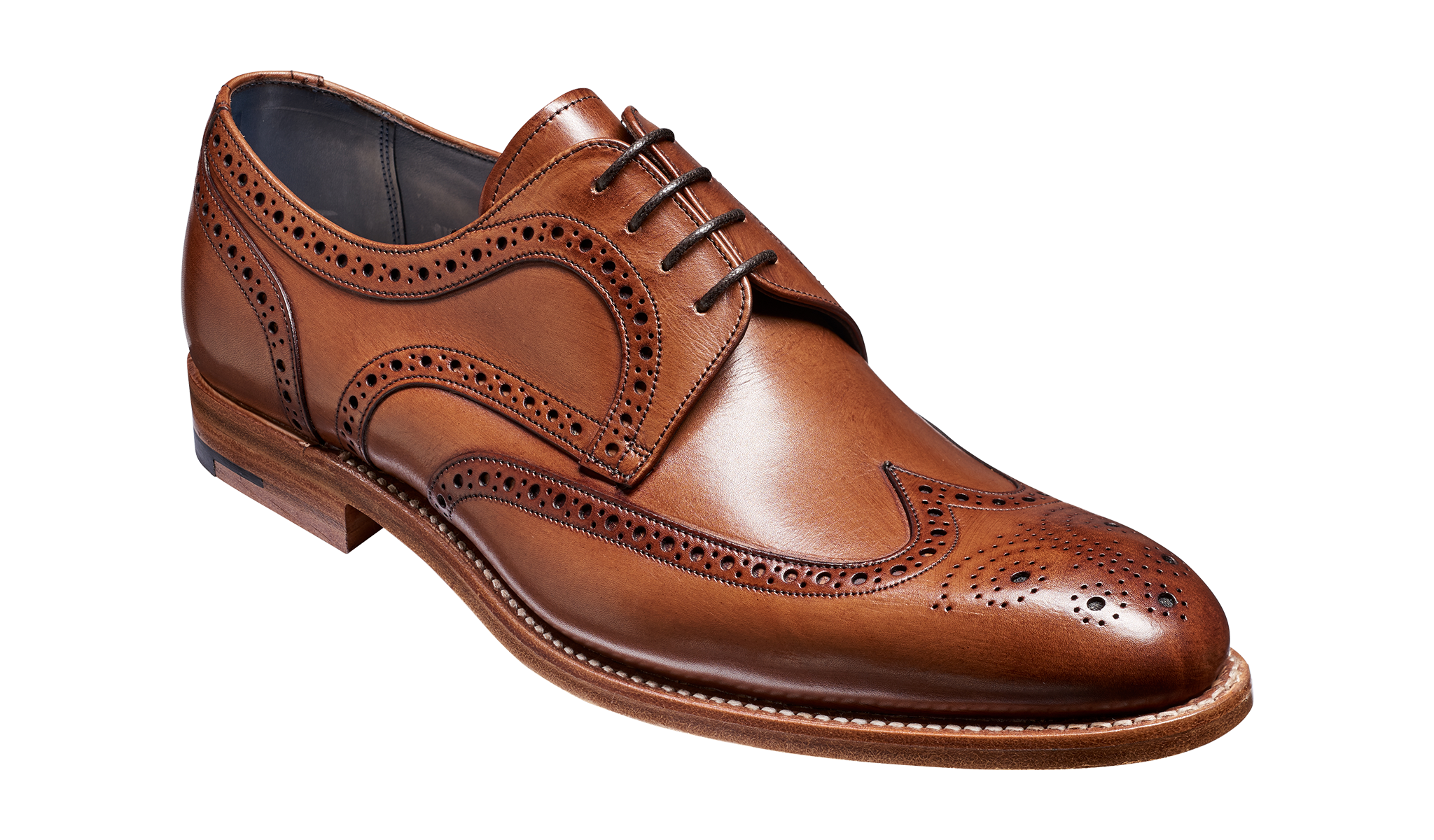 Victor - A brown hand painted men's derby by Barker Shoes.