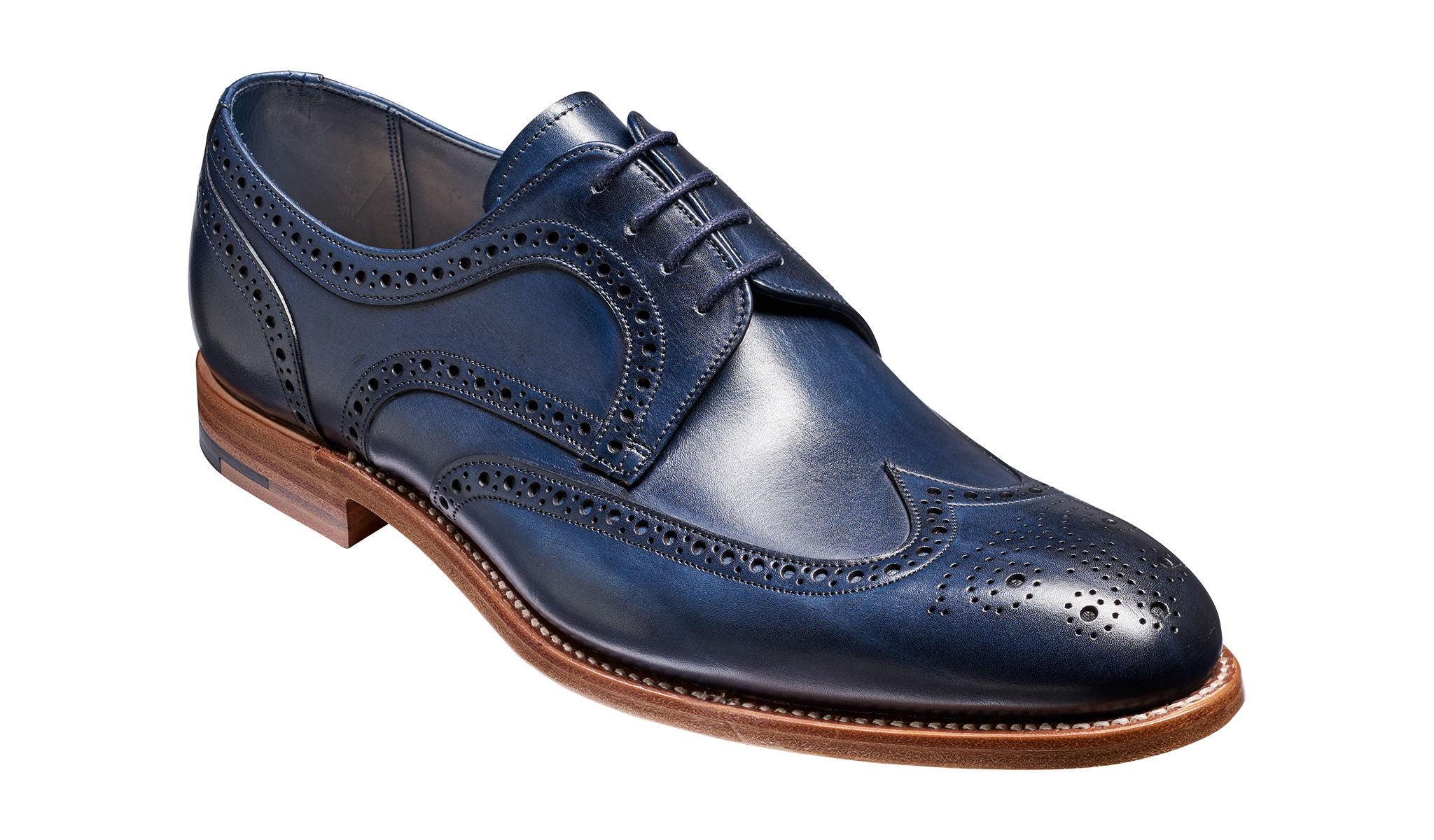 Victor - A navy hand painted men's derby by Barker Shoes