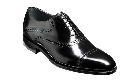 Wilton - Black Hi-Shine Oxford
