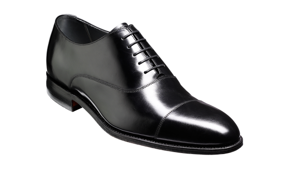 Winsford - Black Hi-Shine Oxford