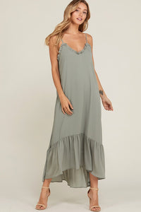 Ruffled Edge Maxi Dress
