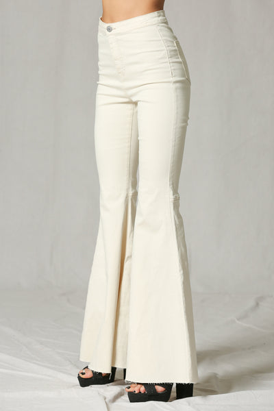 Super Flare Cream Denim Jeans