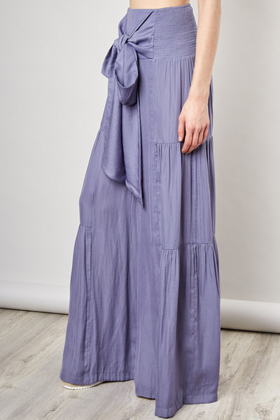 Dusty Violet Wide Leg Pants