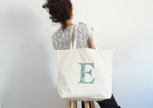 Personalized Liberty Print Canvas Tote Bag |EZIGN|