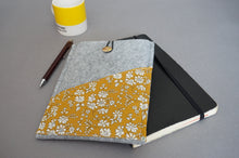 Load image into Gallery viewer, Protective Felt Kindle Sleeve with Capel G Mustard Contrast