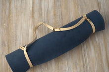 Load image into Gallery viewer, Yoga Mat Strap - Veg. Tanned Natural Genuine Leather