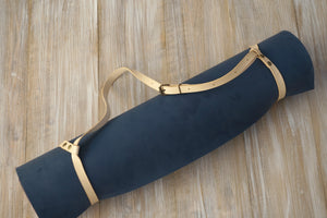 Yoga Mat Strap - Veg. Tanned Natural Genuine Leather