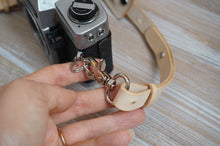 Load image into Gallery viewer, Adjustable Handmade Leather Camera Strap - Veg Tan Natural Genuine Cowhide style: AIDA