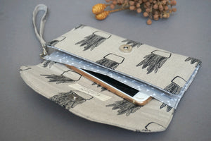 Aloe Vera Plant Fabric Handmade Wallet for Women
