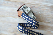 Load image into Gallery viewer, Elephants Camera Strap with Leather Trimming - DSLR Strap