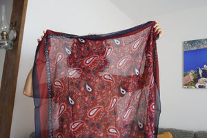 Stylish Scarf and Headscarves - Paisley and Leaves Shawl