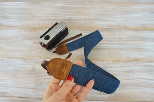 Denim Camera Strap, Indigo Photography Strap