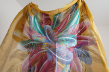 Load image into Gallery viewer, Women's Scarf and Headscarves - Green and Mustard Yellow Shawl