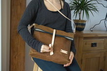 Load image into Gallery viewer, Gold Wax Canvas Cross Body Bag - Everyday Bag style: DERE