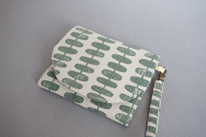 Minimalist Handmade Fabric Wallet - Wristlet Slim Purse for Women