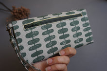 Load image into Gallery viewer, Green Print Handmade Wallet for Women