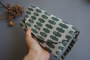 Green Print Handmade Wallet for Women