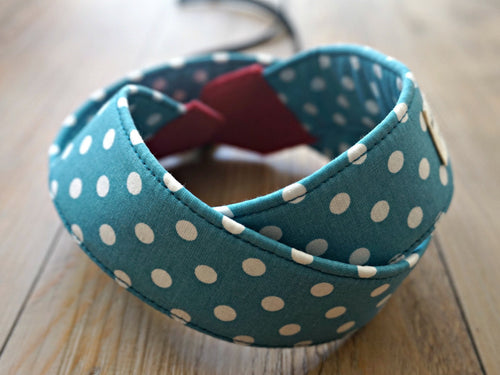 Polka Dots Camera Strap - DSLR Camera Strap - Photography Accessories - Handmade Neck Strap - Personalized Camera Sling