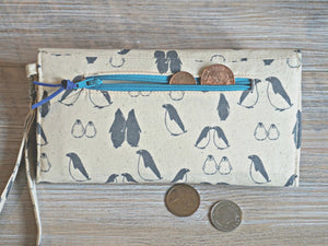 Penguin Wristlet Wallet for Women - Animal Theme Purse