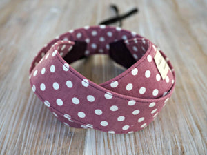 Polkadots Camera Strap - Plum DSLR Camera Strap -  Photography Accessories - Plum Polka Dots Camera Strap with Cap Pocket