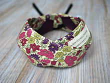 Load image into Gallery viewer, Purple Floral Camera Strap - Liberty of London Tana Lawn Fabric