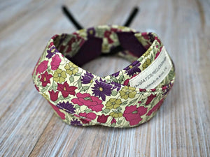 Purple Floral Camera Strap - Liberty of London Tana Lawn Fabric